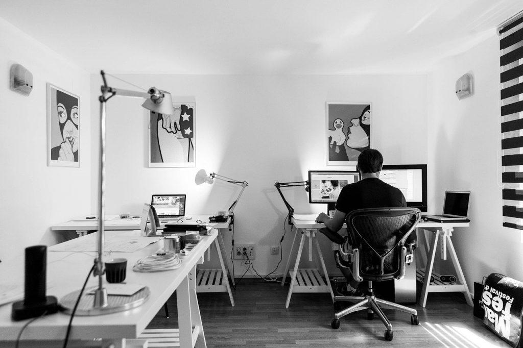 office, work, desk