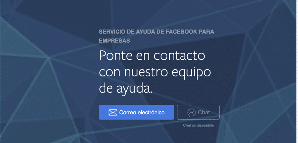 Contacto con facebook por chat